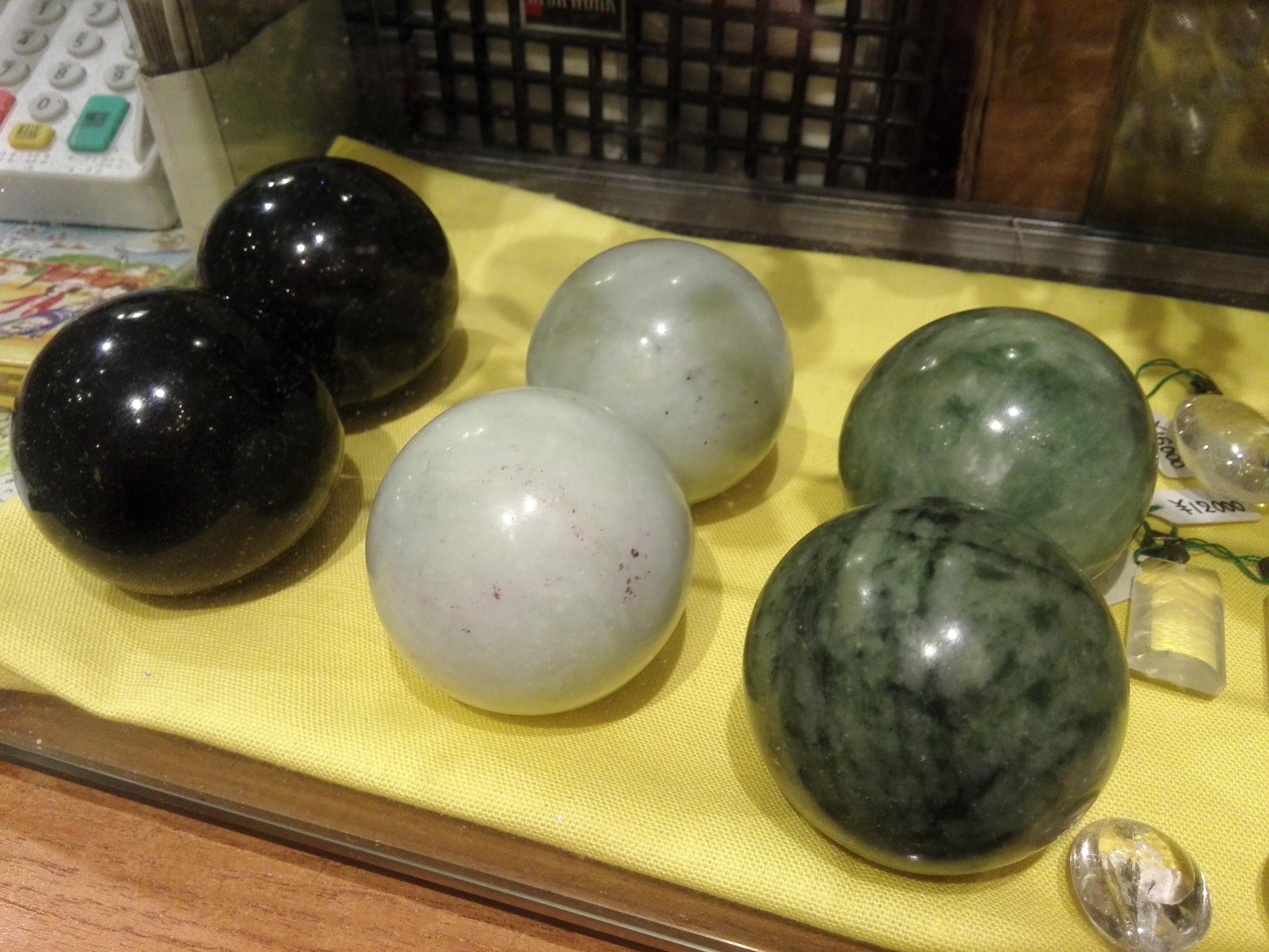 天然石特大健身球